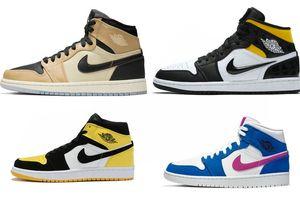 2019 Новые 1 ретро РЕТ привет премиум просто замечательно Японии импорт мужчины/женщины/дети баскетбол обувь высокого черный гриб 1С средний ЮВ желтый носок спортивные кроссовки