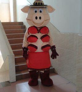 La qualité des marionnettes Striptease Strip Pig Swinish Mascot Costume Livraison gratuite