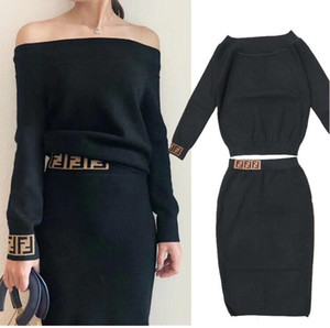 2019 New Fashion Dress 2 pezzi Set Crop Top e gonna tuta Abito da donna sexy per il tempo libero a due pezzi