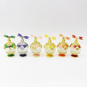 25ml di profumo di olio essenziale vintage bottiglia riutilizzabile vuota Graven metallo libellula contenitore di vetro regalo decorazione della casa