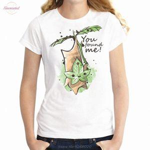 Womens T Shirt Gamer Girl Legend Of Zelda Korok Seed You Found Polyester Me Geek Shirt Girls Tshirt Harajuku Hip Hop Tees