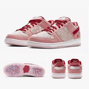 2020 TOP New Hot New Strange Love X SB Dunk Low PINK Chaussures Running Shoes Men Women Outdoor Designer Sport Trainers Sneakers