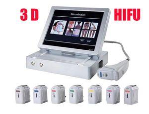 3D de alta calidad HIFU ultrasonido en medicina Cara Llift piel Pérdida Cuidado de grasa corporal Peso del salón de belleza Equipo HIFU piel facial de apriete Slimmin