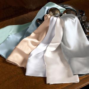 Funda de almohada de seda de morera de doble cara de color sólido 100% de alta calidad 51 * 76cm Funda de almohada de gusano de seda fronha de seda