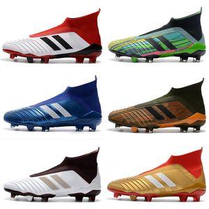 ot Bottines ACE Predator 18+ FG Copa Tango Chaussures de foot Hommes Extérieur Intérieur Predator Accelerator Football Crampons de football noirs