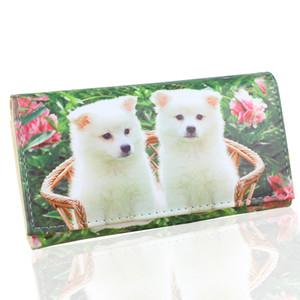 TONUOX Kadınlar Cüzdan Sevimli Köpekler Hayvan Desen Casual Lady Para Çanta Cep Çantalar Uzun torbaları Cüzdan Kılıfı Köpek Cüzdanlar Çanta