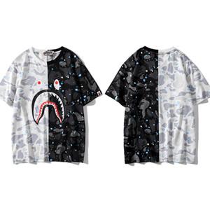 Mens Designer T-shirts Womens luxe T-Mode Printemps Eté Marque manches courtes Chemises Street Styles Shark tête d'impression t-shirts 2032700V