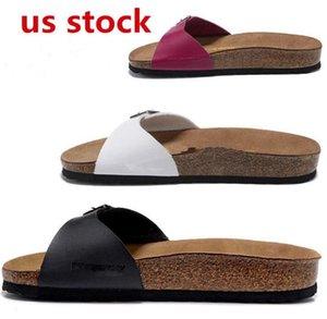 US STOCK, Arizona 2020 Summer Beach Cork Slipper Flip Flops Sandals Mulheres de várias cores Casual Slides Shoes Plano frete grátis 36-46 FY9034
