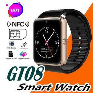 GT08 Bluetooth Smart Watch With SIM Card Slot NFC Health Watchs For Android Samsung and IOS Apple Iphone Smartphone Cradle Design