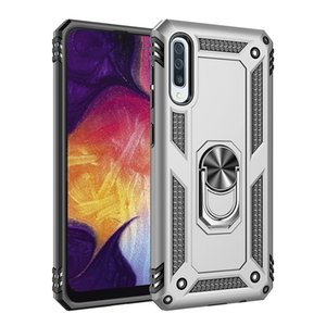 6 Colors Free Ship Fashion full protect back cover For mobile phone case Samsung Galaxy A50 Phone Case Ring Car Holder