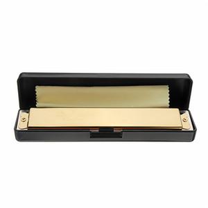 Kuğu SW24H-1 Altın Renk 24 Delik Plastik Kutu Içinde Tremolo Armonika High End Arp Profesyonel Nefesli Müzik Aletleri