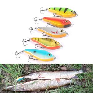Señuelo de la pesca del lucio Jerkbait almizclado Buster Jerk Gran VIB cebos Mustad Ganchos lento hundimiento Big Bass 120mm 50g Trebles ganchos 1/0 Eye 3D