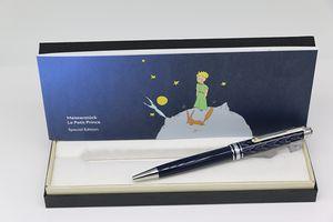 O corpo azul pequeno série príncipe MB caneta esferográfica com prata escola escritório guarnição dom caneta oferta