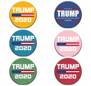 Donald Trump 2020 Broches 2020 EUA Presidente Eleição comemorativa partido emblema do Pin favorecem presentes 9styles RRA3140