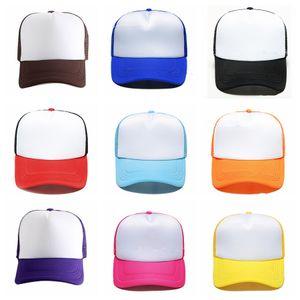 Boş Örgü Beyzbol Şapkası Ayarlanabilir Yetişkin Klasik Trucker Şapka Nedensel Unisex Spor Topu Kap Moda Seyahat Plaj Güneş Şapka TTA804