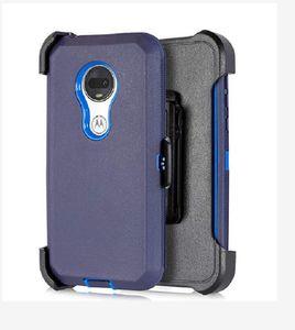 Etui de protection hybride Defender pour Samsung Galaxy A10 A50 moto g7 puissance E5 plus g7 Z4 jouer LG stylo 5 résistant aux chocs robuste Clip ceinture