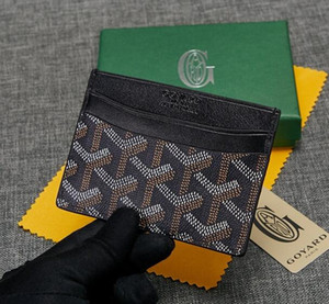 Высокое качество Париж стиль дизайнер классический известный мужчины женщины известный натуральная кожа держатель кредитной карты мини кошелек