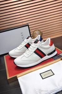 A1 Marken Designer-Mode Snake Print for Love Sneakers Low Top Schwarzweiß-Leder-Mann-Frauen G G Freizeitschuhe