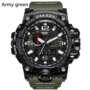 Nuevos smael relojes deportes de los hombres, Relogio LED cronógrafo de pulsera, relojes militares, reloj digital, un buen regalo para los hombres muchacho, nave de descenso