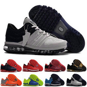 KPU atacado nike air max 2017 Mens Running Shoes Laranja cinzenta Black Gold Branco Almofada Sports Sneakers Homens Atlético des Chaussures Trainers Zapatos