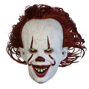 Movie Stephen King's It 2 Horror Pennywise Clown Joker Mask Tim Curry Mask Cosplay Halloween Party Props LED Mask