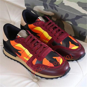 2020 Xshfbcl new men's and women's famous shoes leather camouflage brand sports shoes fashion rubber rivets cheap white shoes many colors