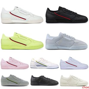 2019 New Powerphase Calabasas Continental 80 Casual Shoes Core Black White Pink Semi- Yellow Grey Women Mens Trainer Sports Sneakers