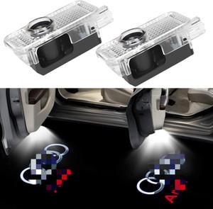 Auto-Tür-LED Logo Licht-Laser-Projektor-Lichter-Geist-Schatten Willkommen Lampe Einfache Installation für Audi A1 A3 A4 A5 A6 A7 A8 Q3 Q7 R8 TT RS S