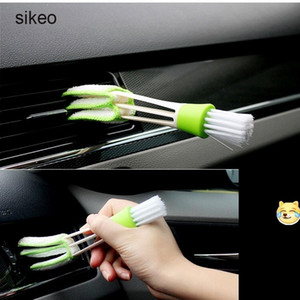 Accessoires pour outils de voiture sikeo Brosse de nettoyage Air conditionné Ventilateurs Désodorisants pour voiture en microfibre Sale Dust Dust Clean Care Brush