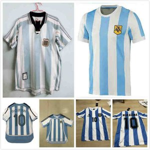 best 1986 Argentina Retro Soccer Jersey Maradona 86 Vintage Classic 1978 Argentina Maradona 78 Football Shirts Maillot Camisetas de Futbol