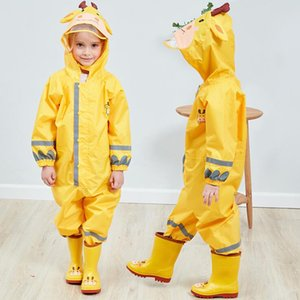 90-135CM Kids Raincoat Rain Pants Children Cartoon Waterproof Rainwear Girl And Boy Poncho Impermeable Rain Coat Rain Jumpsuit