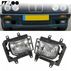 2adet Ön Tampon Şeffaf Plastik Lens Sis Lambaları For1985-1993 BMW E30 3 Serisi 318i 318IS 325i Sedan