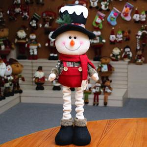 Navidad muñeco de nieve por las muñecas de los regalos Decor extensibles Creativos Adornos Año Nuevo partido de los niños regalo de Navidad Apoyos Juguetes Enfeite De Natal