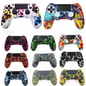 10 caso de la piel cubierta de silicona Camo piezas de camuflaje para Sony PlayStation Dualshock 4 Pro PS4 delgado Controlador