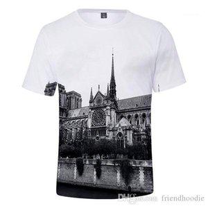 Vêtements Mode Notre Dame de Paris des hommes T-shirts O-Neck manches courtes RIP Femme T-shirts adolescents Designer d'été
