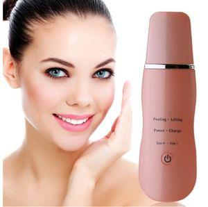Ricaricabile Ultrasonic Face Skin Scrubber detergente per il viso Peeling Vibration Esfoliante strumento di pulizia dei pori Strumento detergente per il viso