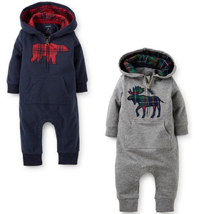 2019 new spring and autumn new style baby boy and girl Climb clothes baby's Romoers hooded kids one-piece garment children's jumpsuits