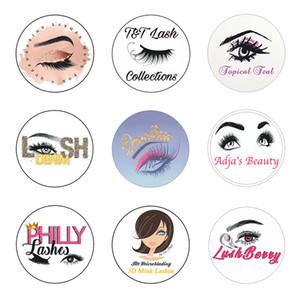 200pcs Ciglia adesivi Biglietti da visita personalizzati chiaro Wedding Etichette Mink Lashes carta Lipgloss Tubi Sticker