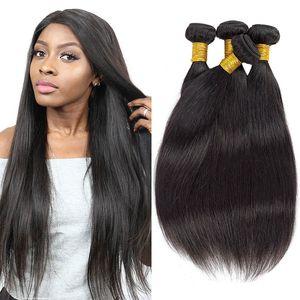 Hetero Virgin Cabelo Humano Pacotes 3Pcs / Lot 100% em massa não processado Virgin do cabelo brasileiro brasileiro Pacotes de cabelo humano para Atacado
