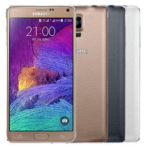 Original Samsung Galaxy Note 4 Refurbished Hinweis4 N910F N910A N910V N910T 5,7 Zoll Quad Core 3 GB RAM 32 GB ROM 4G LTE Android Phone DHL 1PC