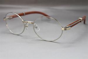 الجملة 7550178 الخشب نظارات مصمم إطار نظارات النساء الساخن مع إطارات مربع خمر نظارات للجنسين الساخن الحجم: فضي 55-22-135mm