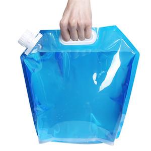 Dobrável quente sacos de água Dobrável Saco de Água Potável Car Water Container Carrier para Camping Caminhadas Ao Ar Livre Picnic Hidratação Engrenagem 4894