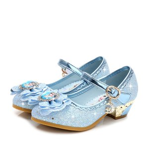 Toddler frozen dancing and party shoes for girls spring flat else shoe 3~15 years old bling and fashion kids girls leather shoes