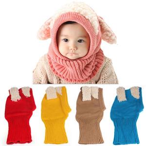 Winter Baby Kids Girls Boys Warm Woolen Coif Hood Scarf Caps Hats women's scarves handkerchief hijab scarf 40FE25
