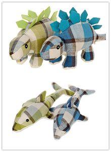 juguetes para perros ropa para perros Perro Gato Mascota Juguetes para masticar Lienzo Durabilidad Muñecas Juguetes para perros Accesorios de alta calidad Dinosaurio Diseño de delfines