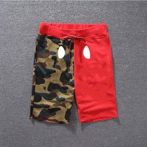 Fashion Men Shorts Shark Sommer Herren Shorts Skateboard kurze Hose Knielänge Tier gedruckte Kleidung Closure Kordelzug mittlere Taillen-M-2XL