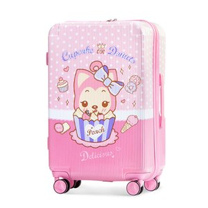 carry nouveau dessin animé sur AHRI valise trolley femmes hommes enfants voyage bagages chariot mignon 16/20/24 pouces