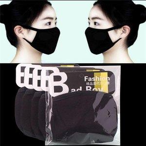 Moda Koruyucu Pamuk Yüz Maskeleri Siyah Anti Toz Bezi Yıkanabilir Yüz Ağız Maskeleri Emniyet Masque İÇİNDE Stok FY9043 Nefes Beyaz mascheri