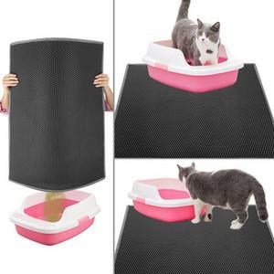 Geagodelia Kedi Mat Çöp Kum Mat Kazıyıcılar Kedi Kumu Mat Kumu Petek Tasarım Çift Katmanlı, Yıkanabilir Su Geçirmez