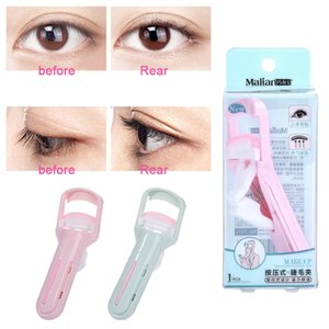 Malian Portable Women Pressing Eyelash Curler Curling Lasting Eyelashes Cosmetic Beauty Makeup Tool Send Silicone Pad
